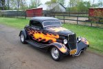 1933 Ford 3 window coupe was originally built into a hotrod at Pete & Jakes shop sitting next ...jpg